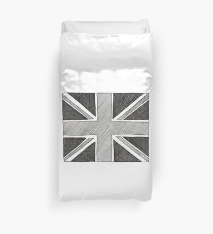 hand drawn union jack Duvet Cover