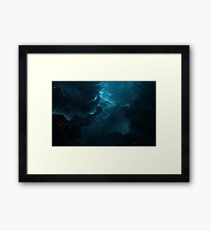 Darkened Nebula Framed Print