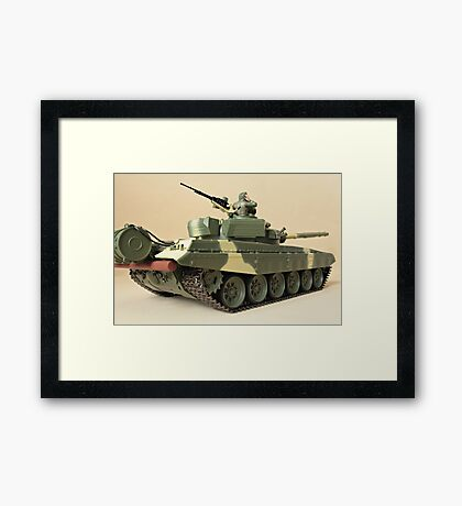 commander in the turret of a tank Framed Print