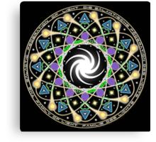 Galactic Federation Of Light Mandala Canvas Print
