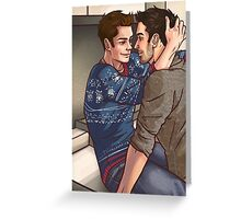 Sweater Weather- Sterek Greeting Card