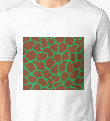 Green Pigment in Giraffe Pattern  Unisex T-Shirt