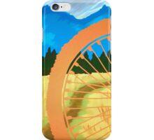 Mountain Biking Dirt Trail Scene iPhone Case/Skin