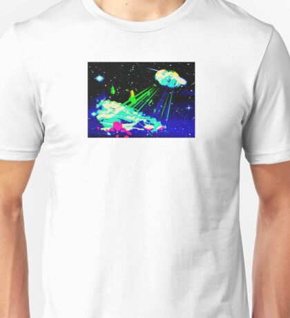 planet green rays,and stars Unisex T-Shirt