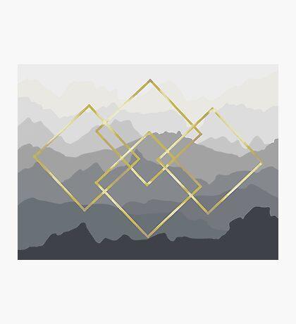 Mod Mountains Photographic Print