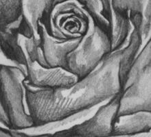 Black And Grey Rose Sticker