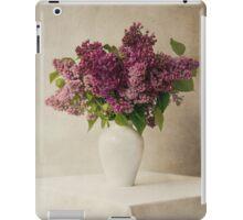 Lilacs in white flowerpot iPad Case/Skin