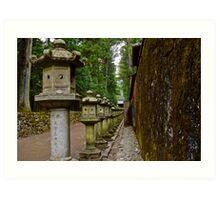 Nikko Lanterns Art Print