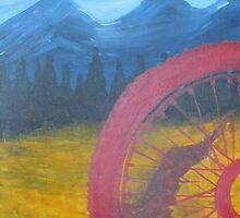Red Wheel Mountain Bike  Trail by JodiErin