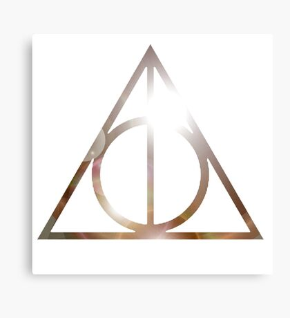 The Deathly Hallows Metal Print