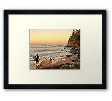Rush Hour Moffat Beach Framed Print