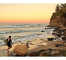 Rush Hour Moffat Beach Photographic Print