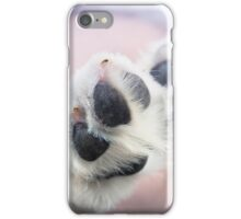 Puppy paws in pastel colours iPhone Case/Skin