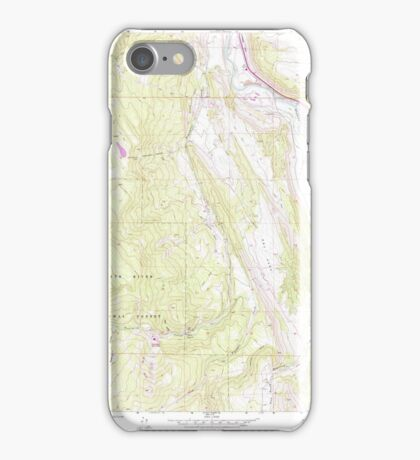 USGS TOPO Map Colorado CO Cattle Creek 232508 1961 24000 iPhone Case/Skin