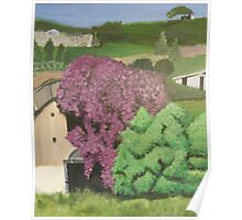 Rural Italian landscape painting Poster