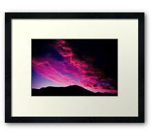 My kind of sunset Framed Print