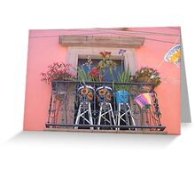 Mexican Balcony Greeting Card