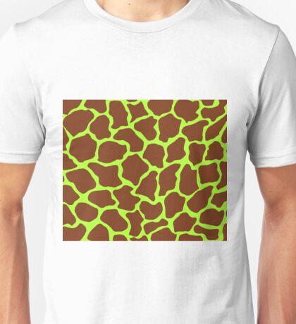 Green-Yellow in Giraffe Pattern Unisex T-Shirt