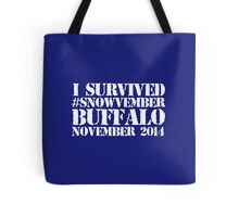 Cool 'I survived #snowvember Buffalo November 2014' Snowstorm T-Shirt and Accessories Tote Bag