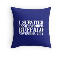 Cool 'I survived #snowvember Buffalo November 2014' Snowstorm T-Shirt and Accessories Throw Pillow