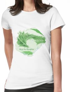 Green Dragon - Stop the Slaughter Womens Fitted T-Shirt