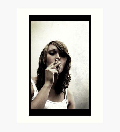 Smoking Grrl Art Print