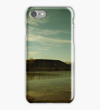 Reflections at the Missile Silos - Greenham Common iPhone Case/Skin