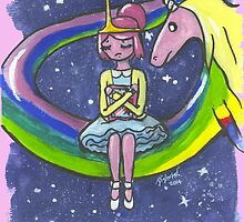 Princess Bubblegum by distorteddayd