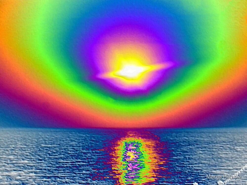Sunset Greek Isles by Marya Humble