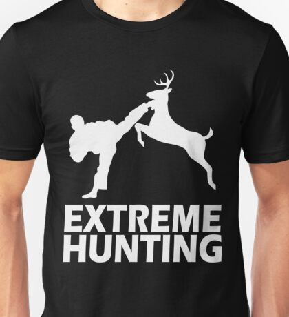 Extreme Hunting Deer Karate Funny Cute T Shirt For Hunt Hunter Season White Unisex T-Shirt