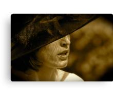 La Dame au Chapeau Canvas Print