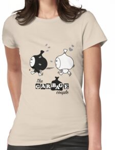 Love Chaser Black/White - The Garbage Bag Couple Womens Fitted T-Shirt