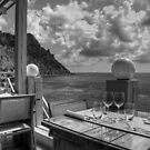 Dining in Paradise - B&W by Tom Gomez