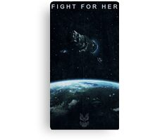 Fight for Her Canvas Print