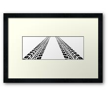 Tyre tracks ipad and iphone case Framed Print