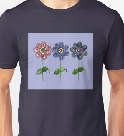 Flower Row Unisex T-Shirt