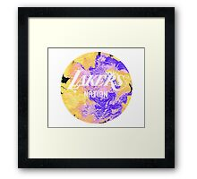 Lakers Nation Framed Print