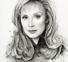 Doctor Beverly Crusher - Star Trek fan Art by OlechkaDesign