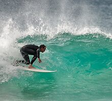 Dicky Beach Surfer by AdamDonnelly