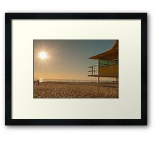 Life saver hut, Glenelg Framed Print