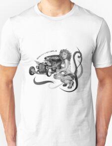 Gas Monkey Girl Black & White Unisex T-Shirt