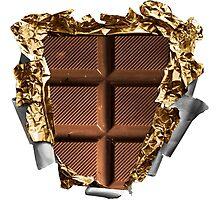 Chocolate Bar Sixpack Photographic Print