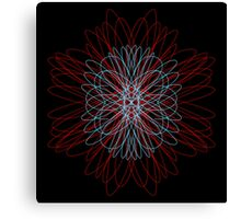 flower red blue Canvas Print