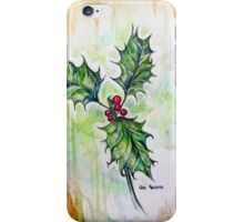 The holly and the ivy iPhone Case/Skin
