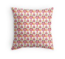 strawberry and apple pattern Throw Pillow