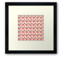 strawberry and apple pattern Framed Print