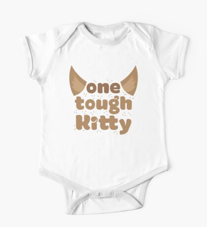 one tough kitty One Piece - Short Sleeve