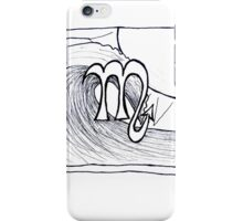 Scorpio black & white iPhone Case/Skin