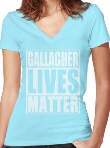 Gallagher Lives Matter Women's Fitted V-Neck T-Shirt