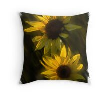 SUNFLOWERS TOGETHER Throw Pillow